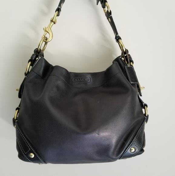 Coach Carly black leather purse